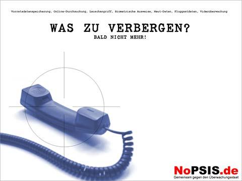 NoPSIS.de: Gemeinsam gegen den Überwachungsstaat