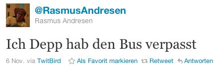 @RasmusAndresen: Ich Depp hab den Bus verpasst