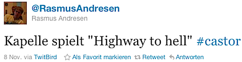 @RasmusAndresen: Kapelle spielt ``Highway to hell´´